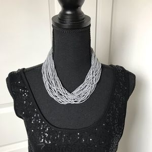 Gray seed bead necklace. NWOT.